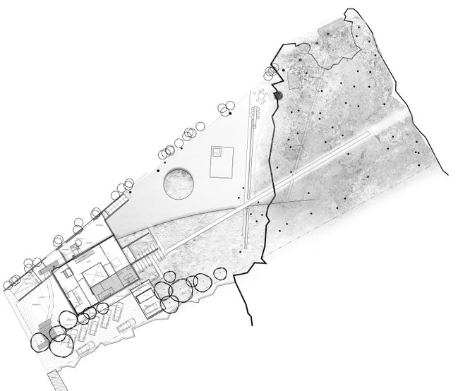 plan view garden design conceptual garden by Andrew van Egmond